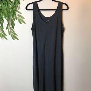 Eileen Fisher Scoop Neck Midi length Gray dress